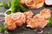 Marinated Pork Loin Steak with Onions and Parsley
