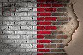 Dark Brick Wall With Plaster - Malta