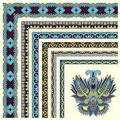 floral vintage frame design. Vector set.