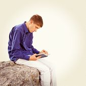 Teenager With A Book