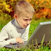 Kid With Laptop