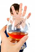 Teenager Refuses Alcohol