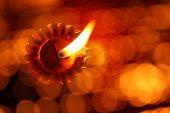 Abstract Diwali Lamp
