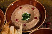 Bowl Of Creamy Hummus