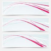 Fast Speed Rapid Red Lines Web Banners Set