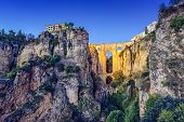Ronda, Spain at Puente Nuevo Bridge.