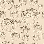 Gift boxes seamless texture