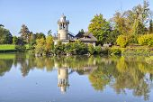 The Marlborough Tower Reflecting In Pond In Marie-antoinette's Estate