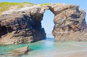 Stone arches on Playa de las Catedrales