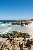 The beach along the coast of Monterey, California