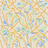 City map seamless pattern, use for travel design mockup, vector illustration.