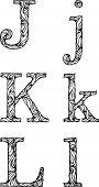 2_letters Of Alphabet Jkl