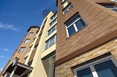 stock photo of orthogonal  - Multistorey building structure building social housing neighborhood - JPG