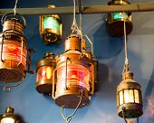 Looking Up at Variety of Lit Colorful Lanterns