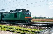 Diesel Local Train In Russia.