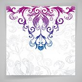 Abstract floral background with oriental flowers.