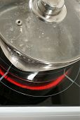 Saucepan On A Halogen Hob