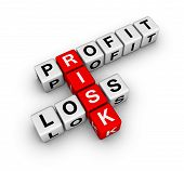 image of risk  - profit loss and risk  - JPG
