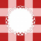 White Napkin On  Checkered Cloth