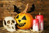 picture of bloody  - Halloween pumpkin - JPG