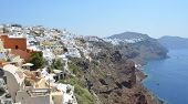 Oia Santorini Greece Village Cliffs and Caldera