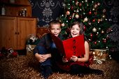 Children Sing A Song At Christmas