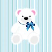 stock photo of nouns  - blue baby teddy bear and vector illustration - JPG