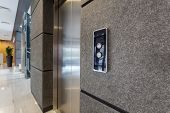 picture of elevators  - Horizontal view of elevator in business centre
