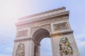 stock photo of charles de gaulle  - Triumphal arch in the city of Paris - JPG