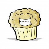 cartoon grinning muffin