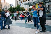 San Francisco, Usa - Sept 22, 2010: People Are Dancing At Union Square On Sept 22, 2010 In San Franc