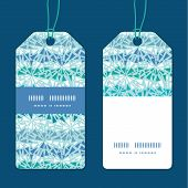 Vector abstract ice chrystals texture vertical stripe frame pattern tags set