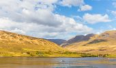 stock photo of galway  - Killary Harbour and Maumturks in County Galway in Connacht - JPG