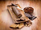 chocolate sausage with hazelnut