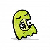 cartoon green ghost