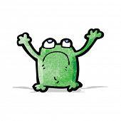 cartoon unhappy frog