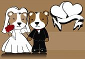 hamster married cartoon background