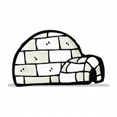 picture of igloo  - cartoon igloo - JPG