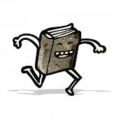 cartoon book running