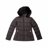 Black Down Filled Winter Coat