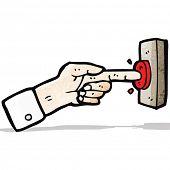 cartoon finger pressing button