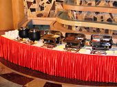 Food from a buffet