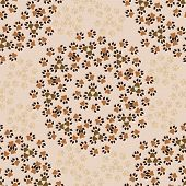 picture of animal footprint  - vector seamless pattern with animal paws footprints background - JPG