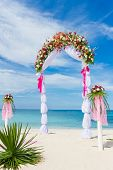 stock photo of wedding arch  - wedding arch - JPG