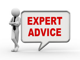 picture of 3d  - 3d rendering of business person standing with expert advice bubble speech - JPG