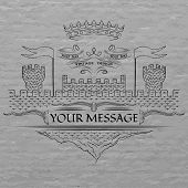 stock photo of medieval  - Emblem - JPG