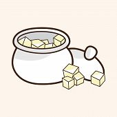 picture of sugar cube  - Sugar Cubes Theme Elements Vector - JPG