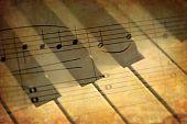 Music Notes And Piano Keys
