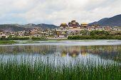 image of tibetan  - Songzanlin Tibetan Buddhist Mahayana Lamaist Monastery in Zhongdian - JPG
