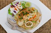 image of thai food  - Fried Thai Mama Instant Noodles - JPG